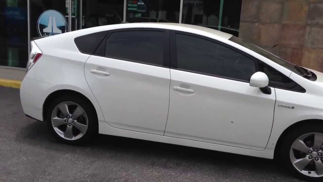 Window Tint On A Toyota Prius Persona Series Marina Del