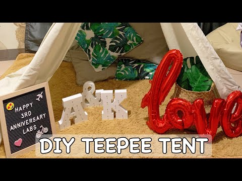 DIY Teepee Tent | Less than PHP500