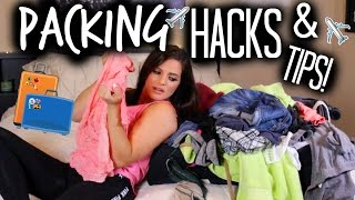 PACKING ESSENTIALS AND DIY HACKS YOU HAVE TO TRY! | Casey Holmes