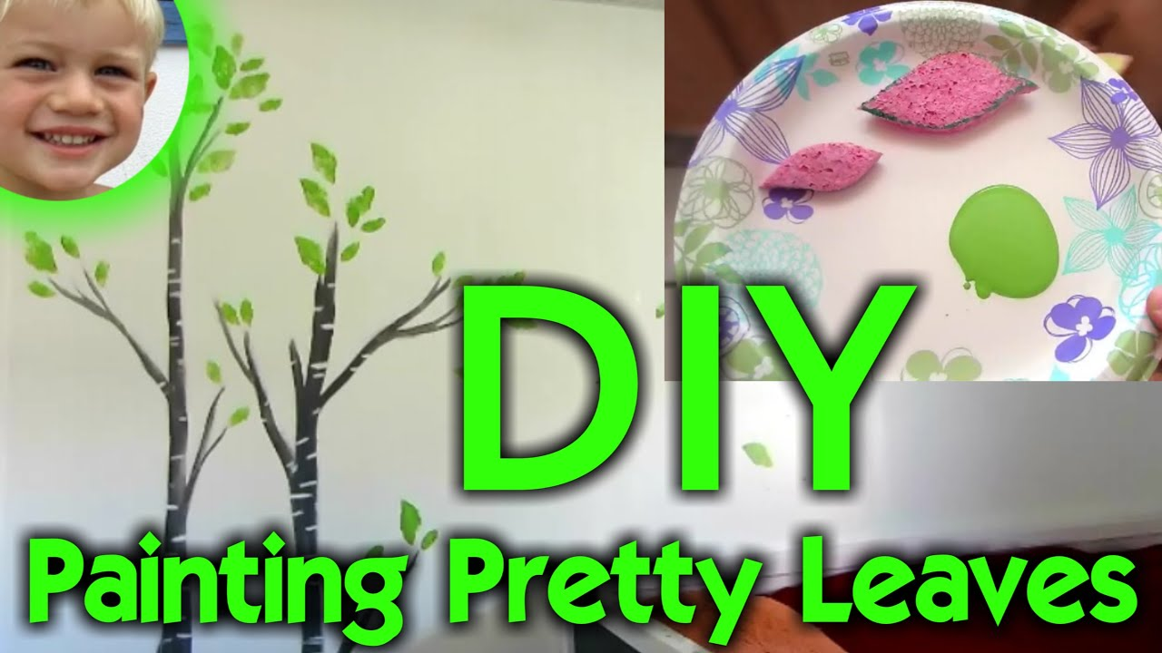 diy leaf painting beautiful tree wall art for kid s bedroom diy leaf painting beautiful tree wall art for kid s bedroom will s wonderful world youtube
