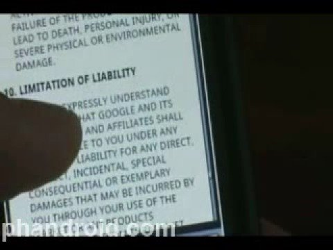 Android Market: Terms of Service (2 of 2)