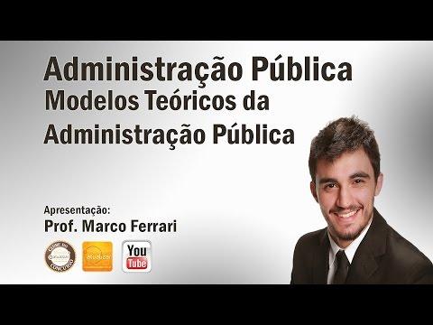 Administração Pública - Aula 01 (Modelos Teóricos da Administração Pública)