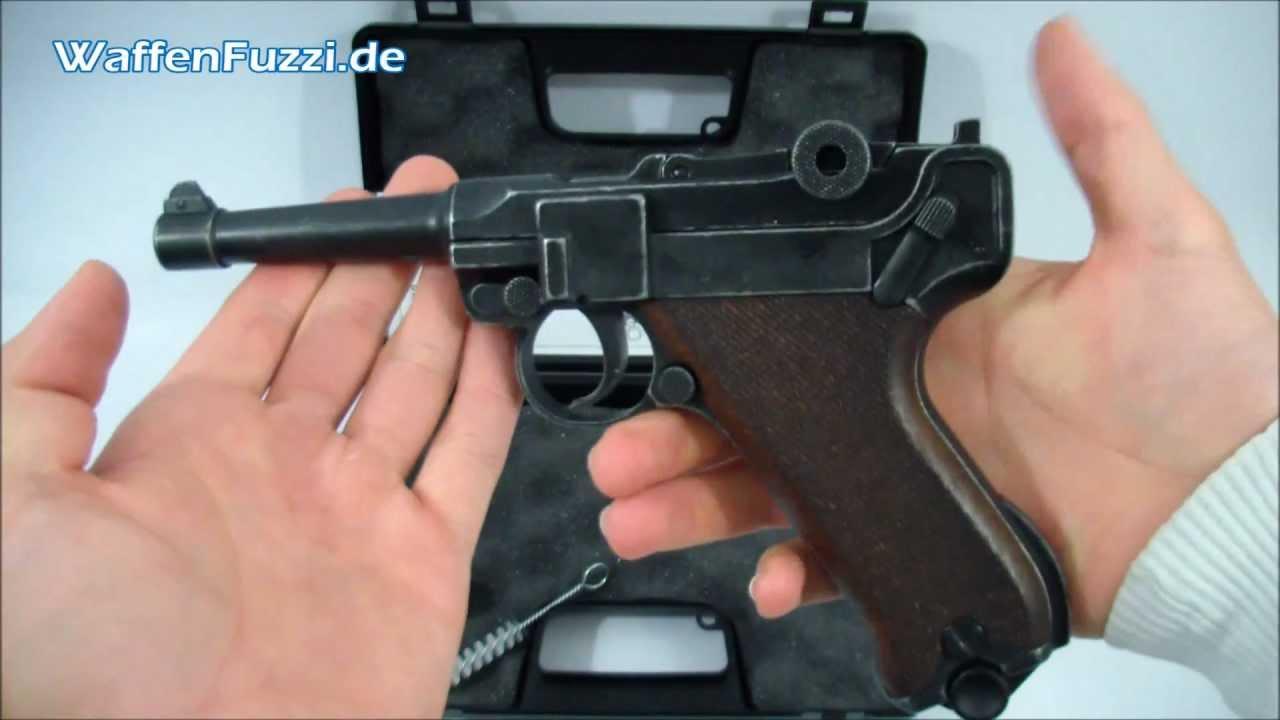 Me P08 Kal 9mm P A K Schreckschuss Gaswaffen Test Co Pistole