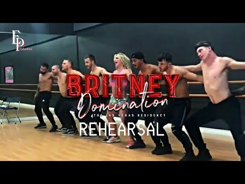 Britney Spears  Rehearsal scream & shout Remix Domination Residence Show