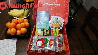 Munchpak snack subscription box January 2019 ASMR