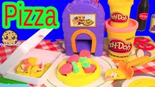 Moon Dough Pan Pizza Topping Maker Oven Playset & Playdoh Food Pizzas Unboxing Video - Cookieswirlc
