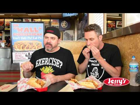 "Jerry's Subs & Pizza ( SAS Snack reviews ""THE WALL CHEESESTEAK"" )"