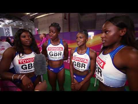 Women's 4 x 100m Final - IAAF World Championships