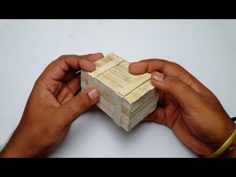 PUBG Box | How to Make Puzzle Box With Ice Cream/Popsicle Stick Diy (Secret Compartment Box)