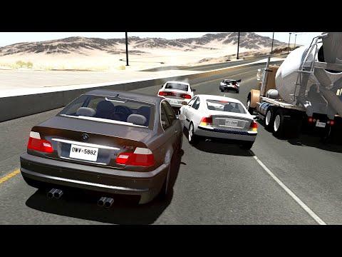 Highway Car Crashes #16 - BeamNG.Drive