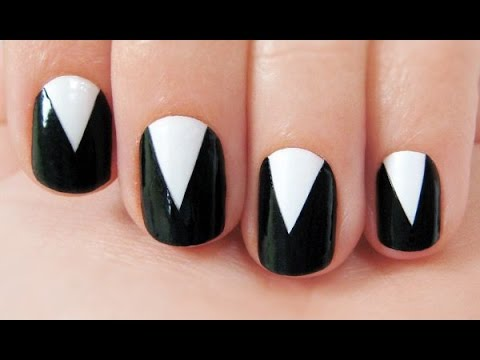 Simple black simple black and white nail voltagebd Gallery