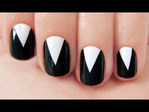 【ネイル】簡単に出来る!大人で上品なシンプル白黒ネイル♡~Simple black and white nail