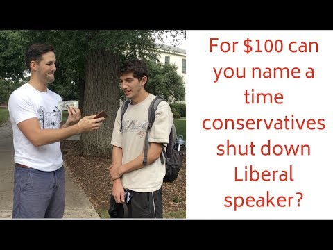 For $100, Students Can't Name Any Time Conservatives Shut Down Speaker