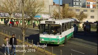 Public transport in Portugal, January 2019