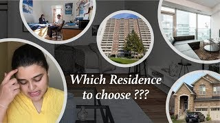 How to find accommodation in Canada | Different types of apartments | Which Residence to choose?