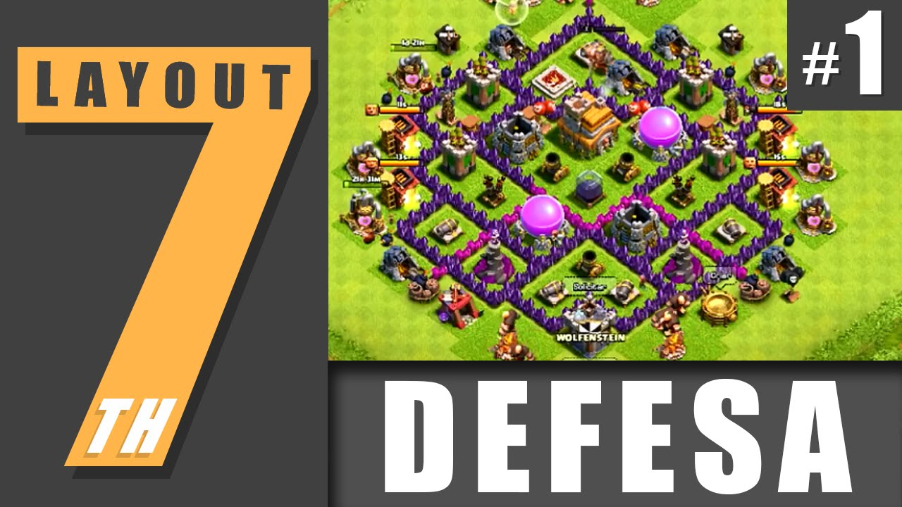 Town Hall 7 Defense Layout