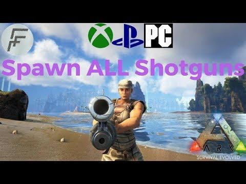ARK: Survival Evolved How to Spawn Shotguns