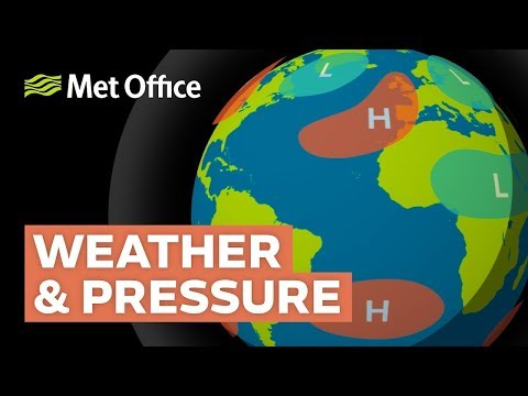 How does atmospheric pressure affect weather?