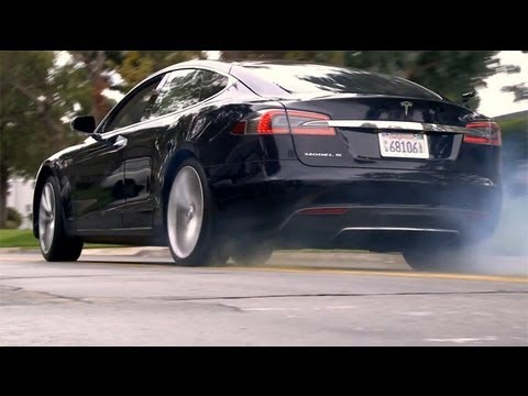 TESLA MODEL S P85 HIGH SPEED!!! - YouTube