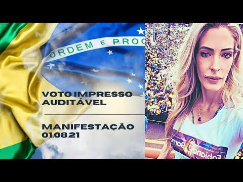 Cobertura da Avenida Paulista pelo Voto Impresso Auditável 01/08/2021
