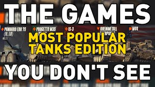 The Games You Don't See: MOST POPULAR TANKS