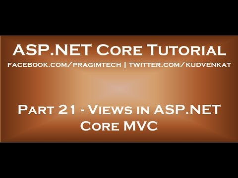 Views In ASP NET Core MVC
