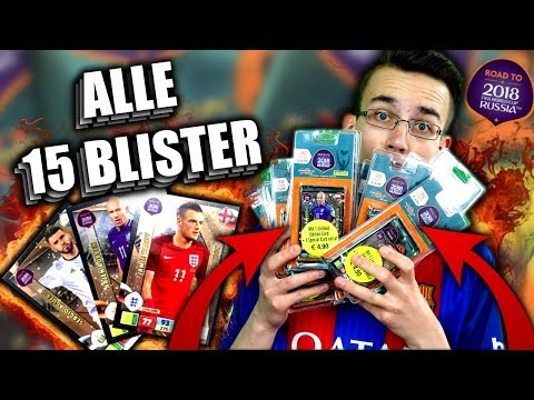 ALLE 15 BLISTER WORLD CUP 2018 ALL LIMITED EDITIONS PANINI