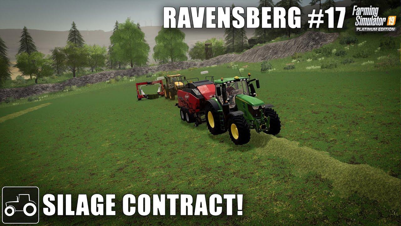 Silage Bales Contract, Planting Corn & Selling Wool, Ravensberg #17 Farming Simulator 19 Timelapse