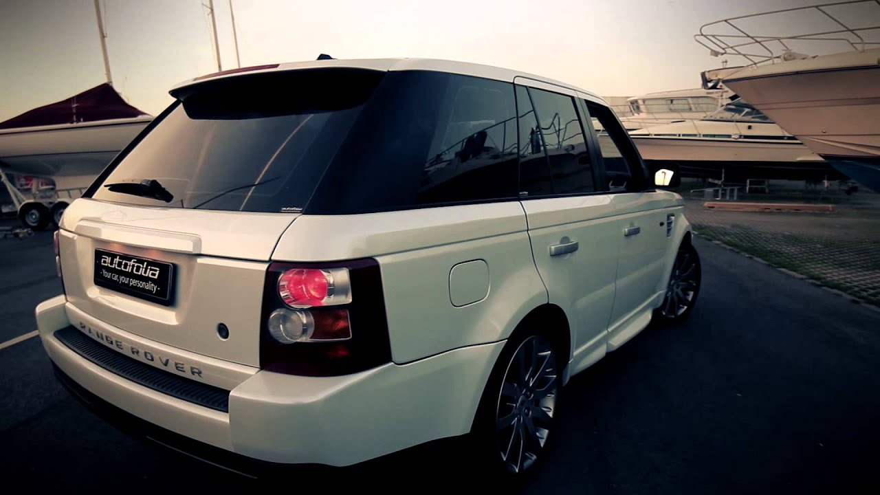 Range Rover Sport Wrapped In White Pearl