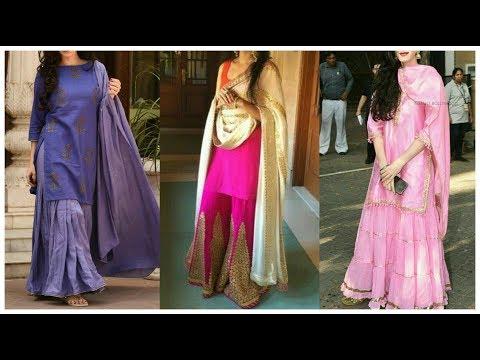 Beautiful Sharara Suits Designs Iedas For Girls ||Latest Indian & Pakistani Sharara Suit Design 2018