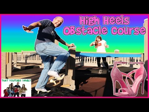 PLAYGROUND HIGH HEELS OBSTACLE COURSE CHALLENGE / That YouTub3 Family