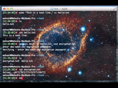 Encrypt Decrypt files using Openssl