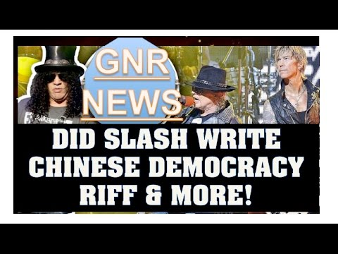 Guns N' Roses News: Slash Came Up With Chinese Democracy Riff? Slash Backstage Footage!