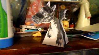 Бумажный летящий дракон с оптической иллюзией слежения(Бумажный дракон с оптической иллюзией слежения Этот волшебный дракон будет постоянно поворачивать голову..., 2015-05-04T15:49:06.000Z)