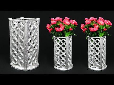 Newspaper Flower Vase || flower vase making || Home Decoration Ideas