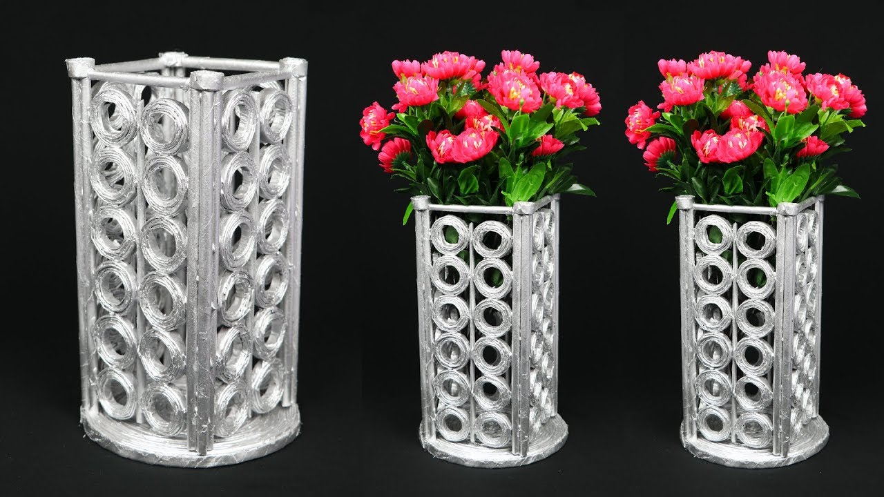 newspaper flower vase