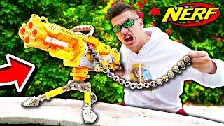 NERF WAR MASTER -  *SUPER* NERF MACHINE GUN TURRET! (NERF BATTLE)