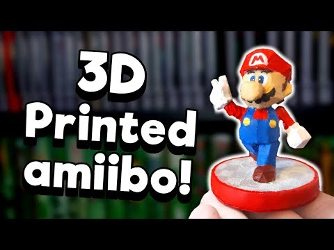 3D-Printed Custom Amiibo - DIY! | Nintendrew