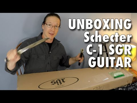 Unboxing the Schecter C-1 SGR Electric Guitar