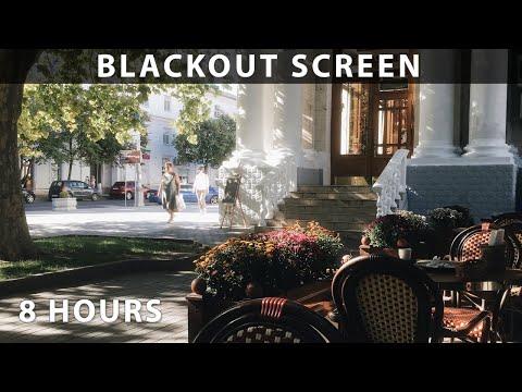 Street Café Urban Sounds for Sleep - 8 Hour Blackout Screen