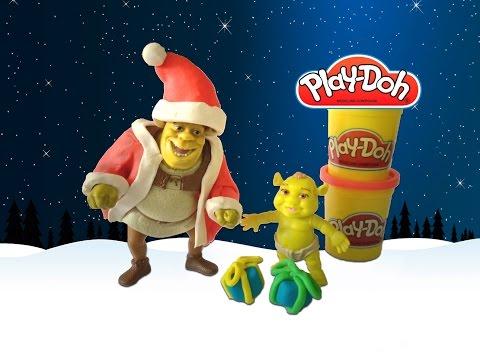 Play-Doh Shrek Santa Claus playdough - Plastilina Shrek Papai Noel    ToysBR