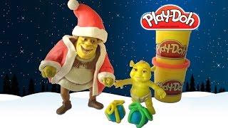 Play-Doh Shrek Santa Claus playdough - Plastilina Shrek Papai Noel  | ToysBR