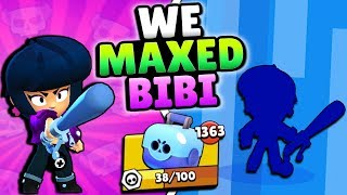 WE GOT BIBI! GEMMING & MAXING NEW BRAWLER BIBI IN BRAWL STARS! MAX BIBI SHOWDOWN GAMEPLAY!