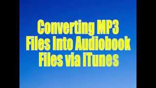 converting mp3s to audiobook files in itunes rod machado products