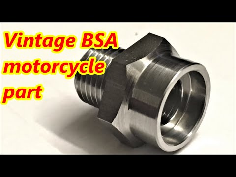 BSA spindle insert nut made on small cnc lathe