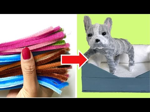 DIY Pipe Cleaner Crafts: Miniature Dog for Dolls