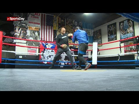 How trainer Derrick James balances pro boxers and everyday clients