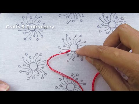 Hand Embroidery Stitches, Latest All Over Embroidery Design