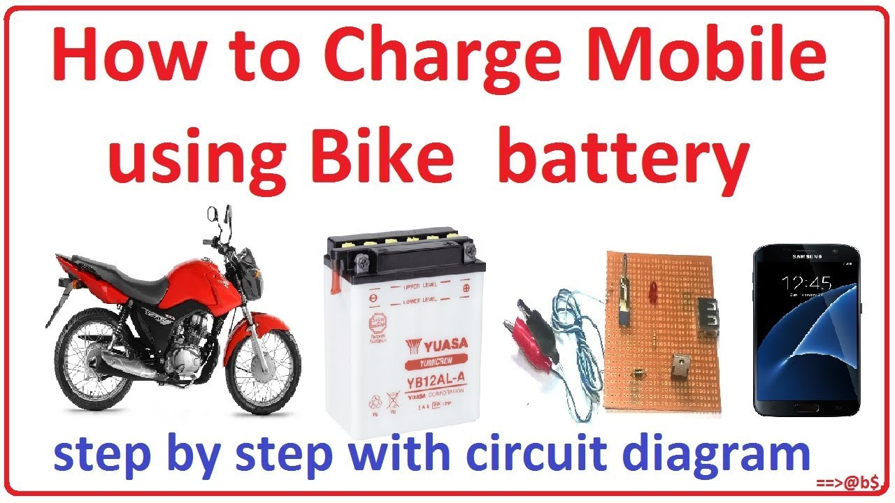 How to make bike battery mobile charger easy step by step with