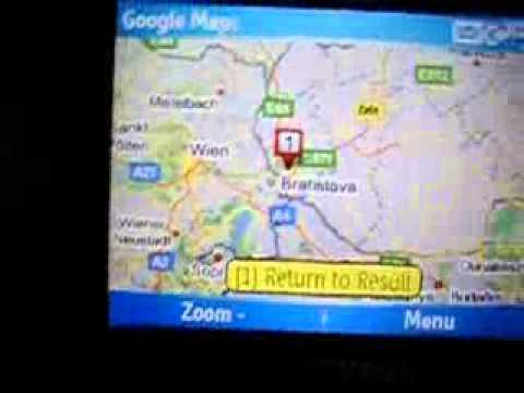 Google Maps on Samsung i600